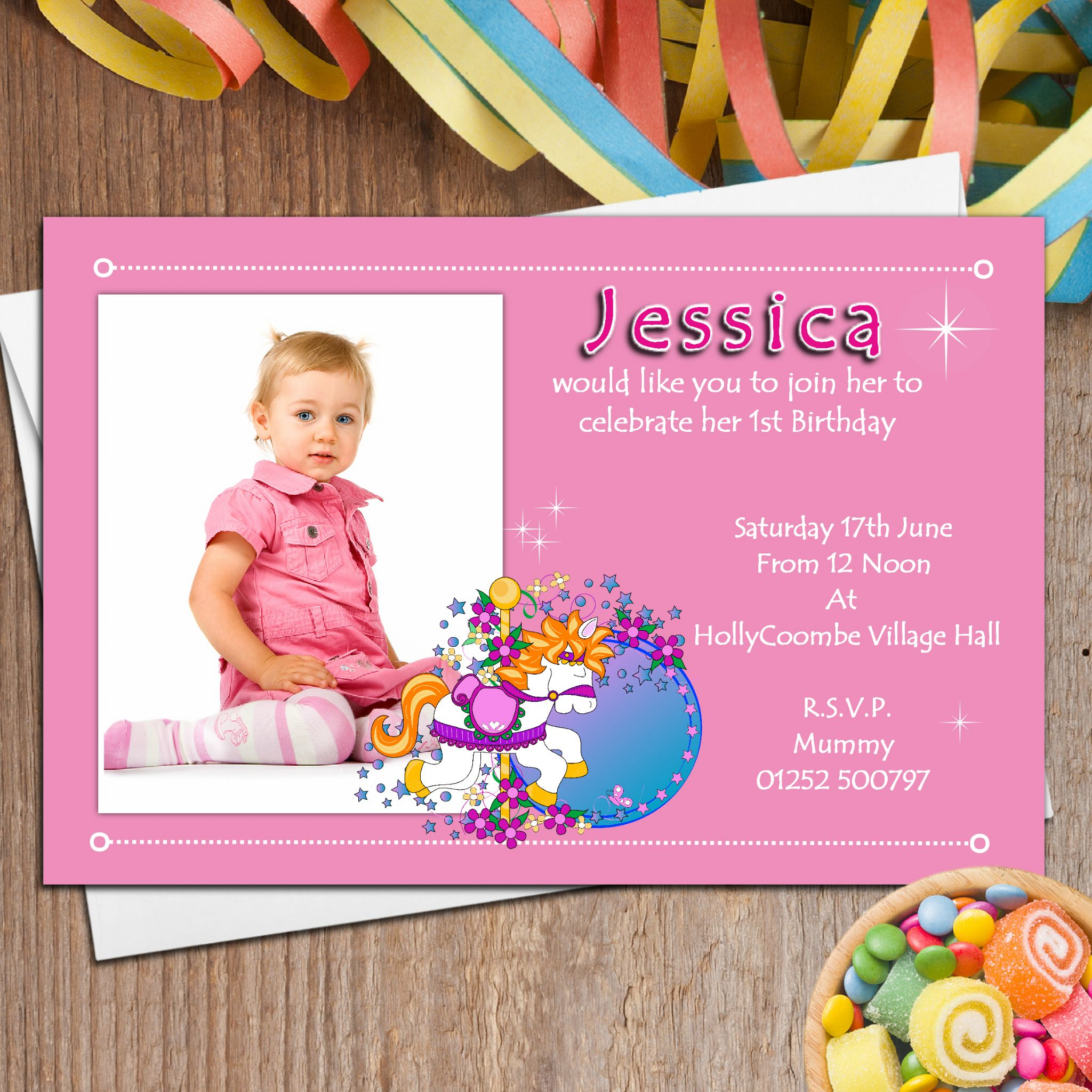 10 Personalised Girls First 1st Birthday Party PHOTO ...
